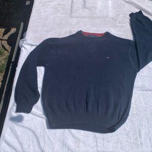 Tommy Hilfiger Blue Crew Neck Sweater